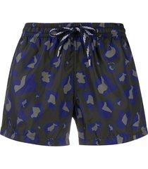 nos beachwear camouflage print swim shorts - black