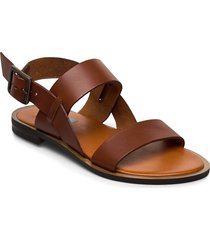 2 string simple round shoes summer shoes flat sandals brun apair