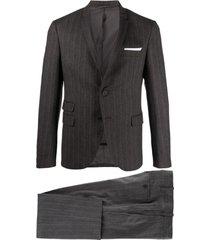 neil barrett slim pinstriped suit