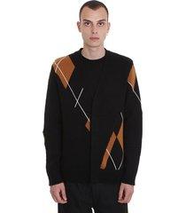 3.1 phillip lim cardigan in black wool