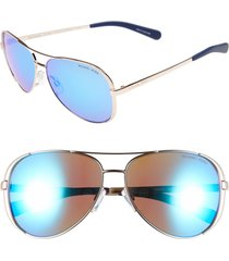 michael kors collection 59mm aviator sunglasses in blue at nordstrom