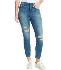 william rast distressed high-rise skinny jeans