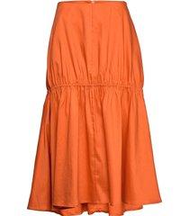 anzio knälång kjol orange totême