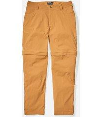 pantalon transcend convertible amarillo marmot