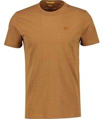 katoenen t-shirt cognac