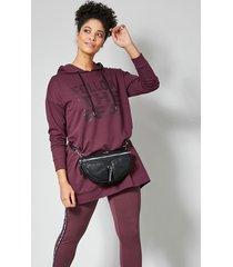 sweatshirt janet & joyce mauve::zwart