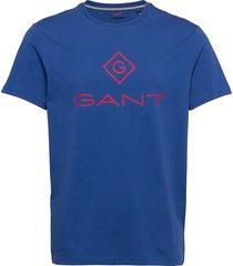 d1. color lock up ss t-shirt t-shirts short-sleeved blå gant