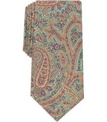 tasso elba men's classic paisley silk tie, created for macy's