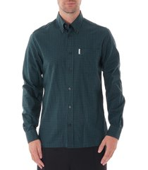 ben sherman gingham shirt | trekking green | 55920-651