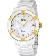 reloj blanco lotus