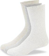 yeezy men's 3-pack crew socks - grey beige - size l/xl