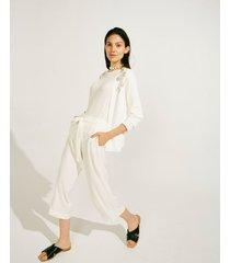 pantalón blanco portsaid light high waist fremont