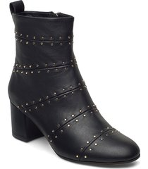stb-bess panel l shoes boots ankle boots ankle boot - heel svart shoe the bear