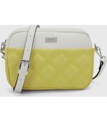 bolso amarillo-blanco keddo