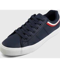 tenis azul navy-rojo-blanco hang ten