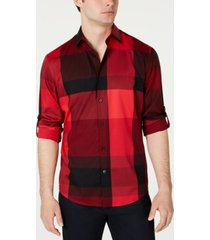 alfani men's large plaid utility shirt, created for macy's