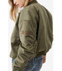 women's satin bomber jacket