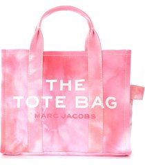 the marc jacobs the tie dye small traveler tote bag pink