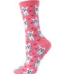 memoi puppy love women's novelty socks