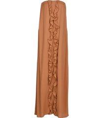 gold case long dresses