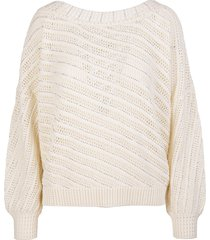 ermanno scervino nude over sweater with crystals