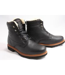 panama jack panama 03 aviator boots sportief zwart