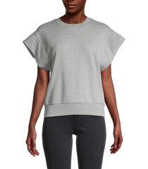 frame women's oversized muscle cotton sweatshirt - heather grey - size s