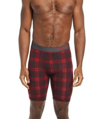 men's tommy john second skin boxer briefs, size medium - red