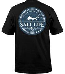 salt life men's forecast graphic t-shirt