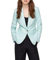 women's j.crew parke stretch linen blend blazer, size 16 (similar to 14w) - blue