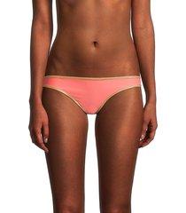 sam edelman women's reversible bikini bottom - coral pink - size m