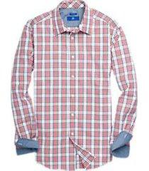 egara red & blue plaid sport shirt