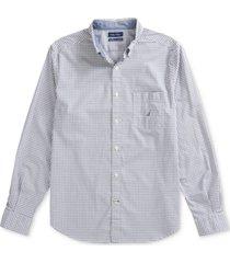 nautica men's gingham poplin shirt