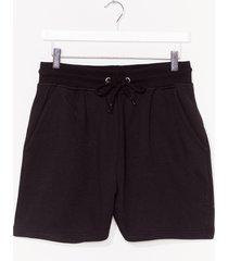 womens soft approach jersey lounge shorts - black