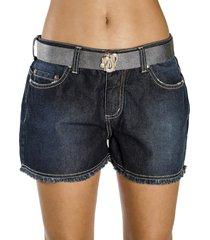 shorts a.cult mini azul - azul - feminino - dafiti