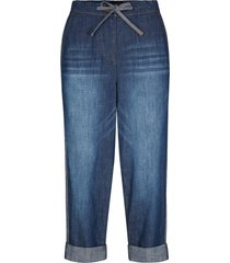 jeans con elastico e bande laterali straight fit (blu) - bpc bonprix collection