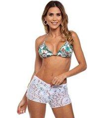 shorts de praia em renda maré brasil