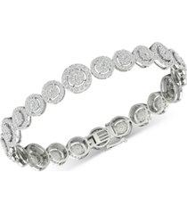 diamond halo link bracelet (3 ct. t.w.) in 10k white gold