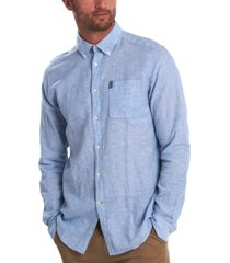 barbour men's miltan solid textured shirt