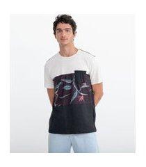 camiseta com recortes e bolso frontal | ripping | preto | pp