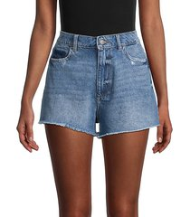 cleo high-rise denim shorts