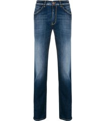 pt05 swing mid-rise slim jeans - blue