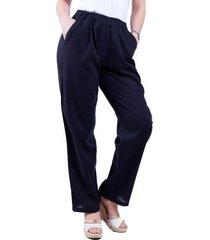 pantalón de lino negro bellisima