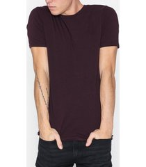 river island ss muscle crew t-shirts & linnen berry
