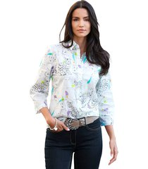 blouse amy vermont wit::zwart::lila