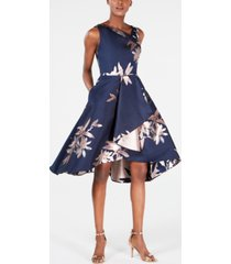 adrianna papell petite jacquard fit & flare dress