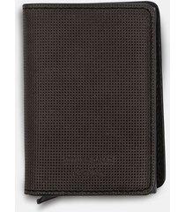 billetera slim wallet en cuero con cardprotector para hombre 07775