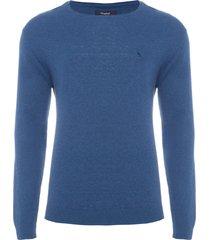 suéter masculino básico confort - azul