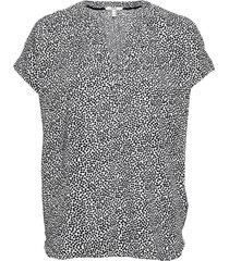 blouses woven blouses short-sleeved svart esprit casual