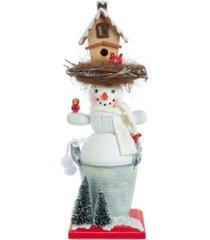 kurt adler 15.5-inch hollywood snowman birdhouse hat nutcracker